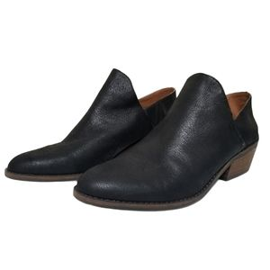 Lucky Brand  Black Leather Low booties 11